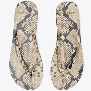 Tory Burch Leather Thong Flip Flops